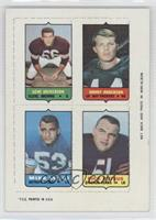 Gene Hickerson, Donny Anderson, Mike Lucci, Dick Butkus