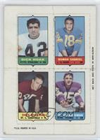 Dick Hoak, Roman Gabriel, Dave Williams, Ed Sharockman [Poor]