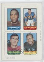 Leroy Kelly, Ed Meador, Ray Ogden, Bart Starr [Good to VG‑EX]