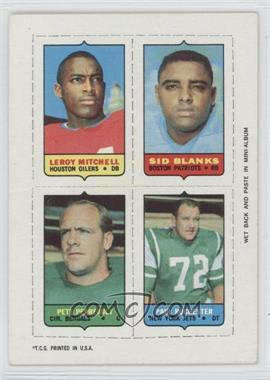 1969 Topps Mini-Cards (4-in-1) #MBPR - Leroy Mitchell, Sid Blanks, Pete Perreault, Paul Rochester