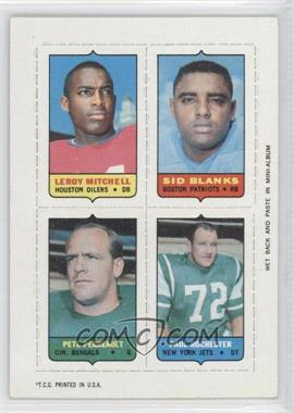 1969 Topps Mini-Cards (4-in-1) #MBPR - Leroy Mitchell, Sid Blanks, Pete Perreault