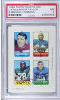 Larry Stallings, Rosey Taylor, Bob Brown, Jim Gibbons [PSA 7]