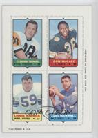 Clendon Thomas, Don McCall, Lonnie Warwick, Earl Morrall