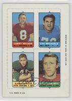 Larry Wilson, Lou Michaels, Earl Gros, Billy Gambrell