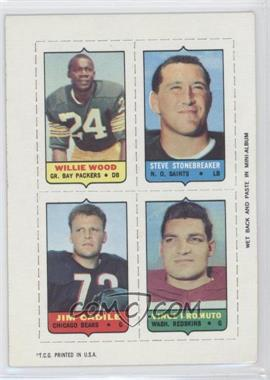 1969 Topps Mini-Cards (4-in-1) #WSCP - Willie Wood, Steve Stonebreaker, Jim Cadile, Vince Promuto