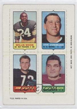 1969 Topps Mini-Cards (4-in-1) #WSCP - Willie Wood, Steve Stonebreaker, Jim Cadile, Vince Promuto [Good to VG‑EX]
