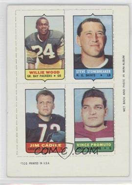 1969 Topps Mini-Cards (4-in-1) #WSCP - Willie Wood, Steve Stonebreaker, Vince Promuto