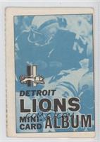 Detroit Lions [GoodtoVG‑EX]