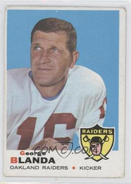 1969 Topps #232 - George Blanda [Good to VG‑EX]