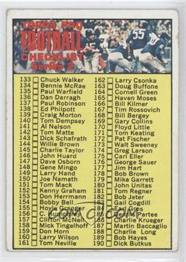 1970 Topps #132 - Checklist Series 2