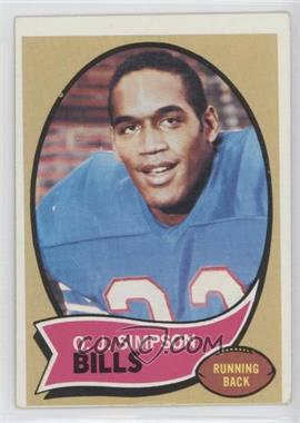 1970 Topps #90 - O.J. Simpson [GoodtoVG‑EX]