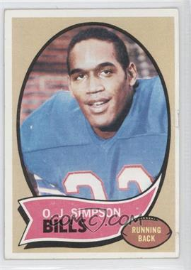 1970 Topps #90 - O.J. Simpson [Good to VG‑EX]