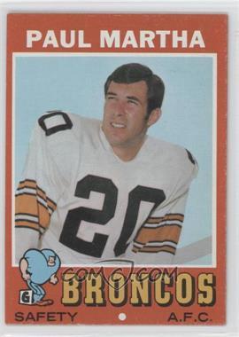 1971 Topps - [Base] #38 - Paul Martha