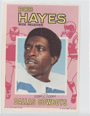1971 Topps Football Pin-Ups #11 - Bob Hayes
