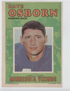1971 Topps Football Pin-Ups #6 - Dave Osborn