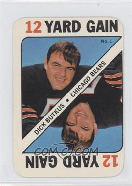 1971 Topps Game Cards - [Base] #1 - Dick Butkus