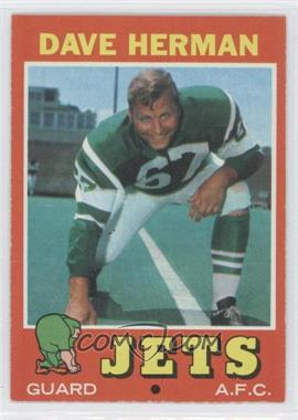 1971 Topps #124 - Dave Herman