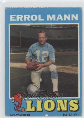 1971 Topps #247 - Errol Mann [GoodtoVG‑EX]