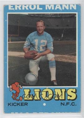 1971 Topps #247 - Errol Mann [Good to VG‑EX]