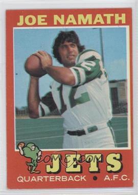 1971 Topps #250 - Joe Namath