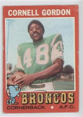 1971 Topps #256 - Cornell Gordon [Poor to Fair]