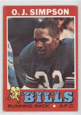 1971 Topps #260 - O.J. Simpson