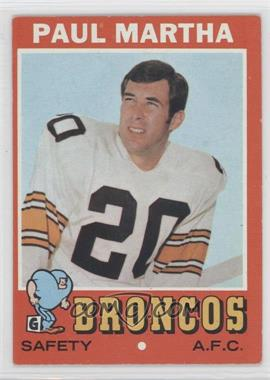 1971 Topps #38 - Paul Martha