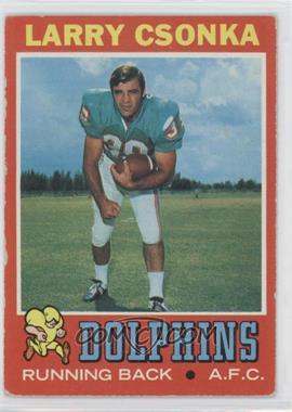 1971 Topps #45 - Larry Csonka