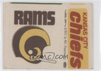 Los Angeles Rams Helmet, Kansas City Chiefs