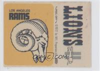 Los Angeles Rams Logo, Detroit Lions