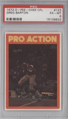 1972 O-Pee-Chee Canadian Football League - [Base] #123 - Greg Barton [PSA6]