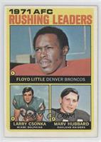 Floyd Little, Larry Csonka, Marv Hubbard
