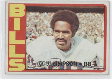 1972 Topps - [Base] #160 - O.J. Simpson