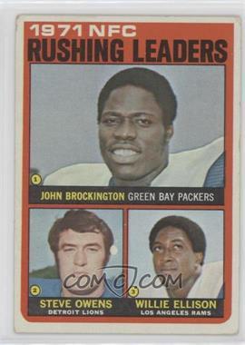 1972 Topps - [Base] #2 - Steve Owens, Willie Ellison, John Brockington [GoodtoVG‑EX]