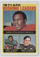 Floyd Little, Larry Csonka, Marv Hubbard