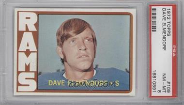 1972 Topps #109 - Dave Elmendorf [PSA8]