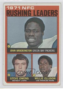 1972 Topps #2 - Steve Owens, Willie Ellison, John Brockington [Good to VG‑EX]