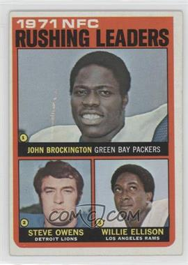 1972 Topps #2 - Steve Owens, Willie Ellison, John Brockington