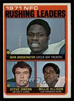 Steve Owens, Willie Ellison, John Brockington [VG]