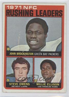 1972 Topps #2 - Steve Owens, Willie Ellison, John Brockington [GoodtoVG‑EX]