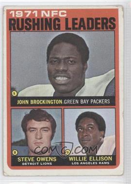 1972 Topps #2 - Steve Owens, Willie Ellison