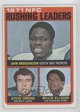 1972 Topps #2 - Steve Owens, Willie Ellison [GoodtoVG‑EX]