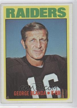 1972 Topps #235 - George Blanda