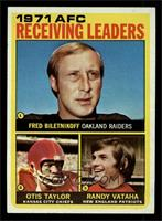 AFC Receiving Leaders (Fred Biletnikoff, Otis Taylor, Randy Vataha) [NM]