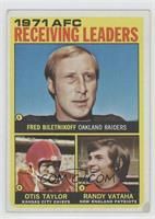 AFC Receiving Leaders (Fred Biletnikoff, Otis Taylor, Randy Vataha) [Good …