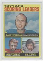 AFC Scoring Leaders (Garo Yepremian, Jan Stenerud, Jim O'Brien) [Good to&n…