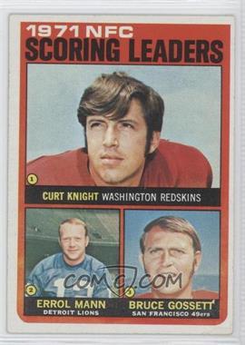 1972 Topps #8 - Curt Knight, Errol Mann, Bruce Gossett