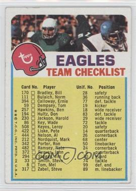 1973 Topps Team Checklists #PHI - Philadelphia Eagles [Good to VG‑EX]