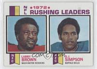 1972 NFL Rushing Leaders (Larry Brown, O.J. Simpson)