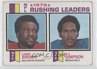 1972 NFL Rushing Leaders (Larry Brown, O.J. Simpson) [Good to VG&#820…